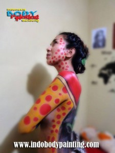 Training Indo body painting 2