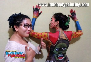 Training Indo body painting Bunda Ratna 2