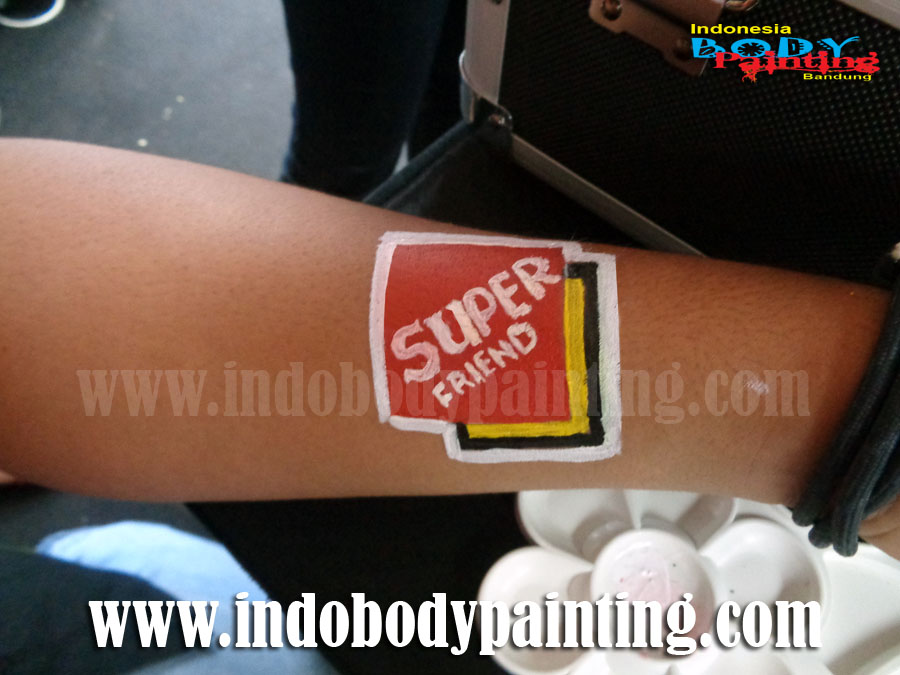 Super Friends Soccer Face Painting - Face Painting Bola Bandung 2016