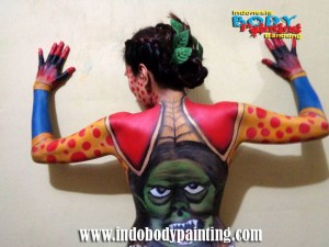 Training Indo body painting Photo Session