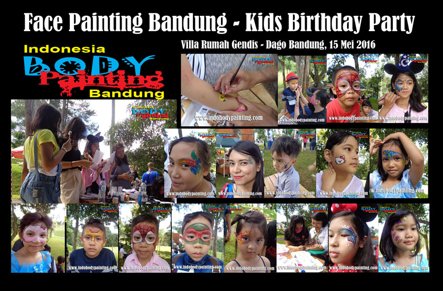 Face Painting Bandung - Kids Birthday Party Update